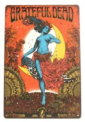 The Grateful Dead in Concert Metal Tin Poster Sign Vintage Ad Style Rustic Look $8.97