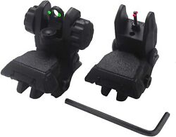 New Sights Awotac Polymer Black Fiber Optics with Iron Flip Up Front And Rear $28.06