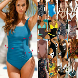 Women One piece Thong Bikini Padded Backless Swimwear Swimsuit Monokini Beach $10.09