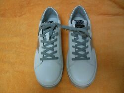 GOLDEN GOOSE DB HI STAR WOMENS WHITE LEATHER SILVER STAR SNEAKER US 10 EUR 40 $325.00