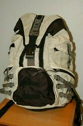 RARE LARGE OAKLEY TACTICAL FIELD GEAR BACKPACK White Black Grey Standard Issue $239.99