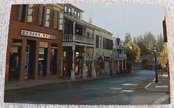 CHROME POSTCARD COMMERCIAL STREET NEVADA CITY CALIFORNIA FORMERLY CHINATOWN P343