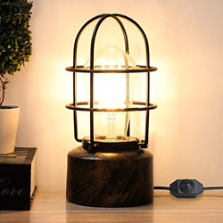 Yueximei Vintage Desk Lamp Small Industrial Light Dimmer Switch Table Lamp E26 $41.33