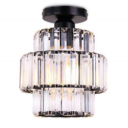 Cainjiazh Mini Chandelier Crystal Chandeliers Lighting Flush Mount Ceiling for $37.45