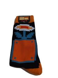 Super Mario Brothers Fire Flower Block Men#x27;s 8 12 Socks Classic Retro 8 Bit $9.09
