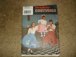 Simplicity 7210 Sewing Pattern Girls Poodle Skirt Costume Sz 81012 14 $6.99
