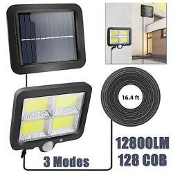 12800LM Commercial Solar Powered Motion Sensor Street Wall Light Garden Lamp US