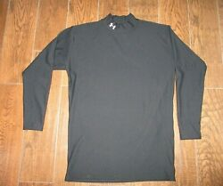 Men#x27;s Under Armour Cold Gear BLACK Compression Mock Top Shirt Sz. 3XL $21.99