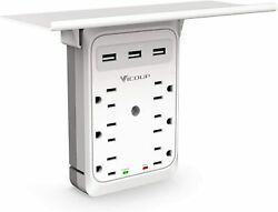 6 Outlet Surge Protector With 3 USB Charger Ports Multi Plug Wall Adapter Tap US $17.99
