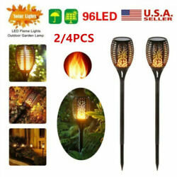 ABS 96LED Solar Flame Lights Flickering Flame pathway Lawn Outdoor Lamps USA $34.99