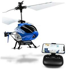 U12S Mini RC Helicopter with Camera Remote Control Helicopter for Kids Blue $68.32