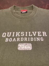 Vintage Quicksilver Boardriding 70 Series Large Men's Green Short Sleeve T shirt $15.99