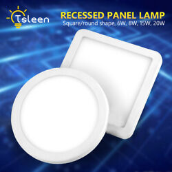 Round Square Recessed Ceiling Lamp LED Panel Down Lights For Commercial Use 4DB $16.47