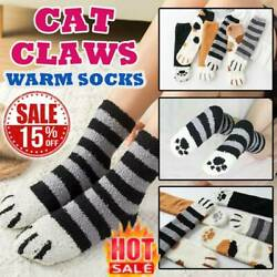 Cat Claw Paw Socks Cute Lovely Soft Warm Sleep Floor Ankle Coral Home Girl Women $1.05