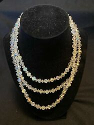 Vintage Glass Bead Necklace $10.00