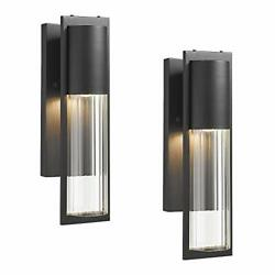Exterior Wall Lights 2 Pack Transitional Outdoor Wall 15 3 5quot; HIGH SET OF 2