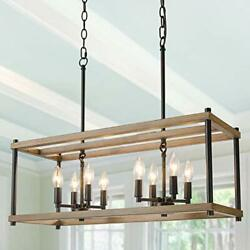 Farmhouse Chandelier for Dining Rooms 8 Light Kitchen Island Lighting Faux $212.94