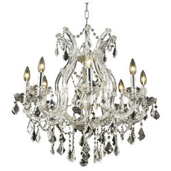 ASFOUR CRYSTAL CHANDELIER CHROME MARIA THERESA CEILING LIGHTING SALE 9 LIGHT 26quot; $1318.00