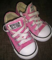 CONVERSE ALL STAR TODDLER GIRLS PINK LOW TOP SNEAKERS SIZE 6 $22.99