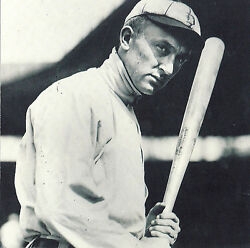 TY COBB POSES WITH BATTING STANCE FOR THE DETROIT TIGERS CLASSIC $3.95