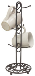 Coffee Mug Tree Holder 6 Cup Storage Rack Organizer Stand Kitchen Tea Key Hanger $13.93
