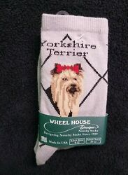 Yorkie Socks for People Novelty Socks Made in the USA Yorkshire Terrier $6.99