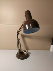 "VINTAGE Desk Lamp Swing Arm Drafting Light Work Office Metal Brown 15"" Height $24.99"