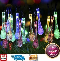 Outdoor Solar Powered 30 LED String Light Garden Patio Yard Landscape Lamp Party $10.99