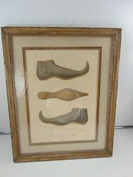 Vintage Wall Hanging Antique Victorian Shoe Last Picture Print 14 x 12 NEW YORK $29.90