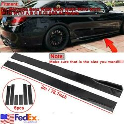 78.7#x27;#x27; Carbon Fiber Look Side Skirt For Mercedes W205 W204 W203 C200 C250 C300 $86.99