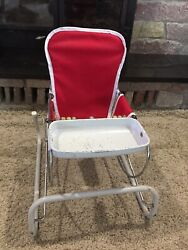 Vintage Cosco Baby Bouncer With Tray And Wooden Beads $80.00