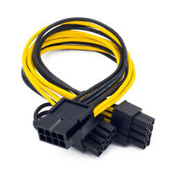 EPS12V CPU 8pin to dual 62pin PCI E PCI express adapter cable Y splitter $3.94