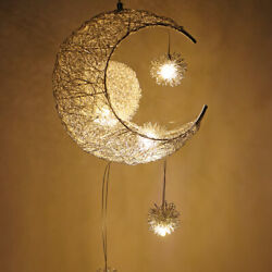 Modern Led Hanging Lamps Moon Star Chandelier For Children Kids Bedroom Lighting $42.99