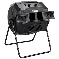 Compost Bin Outdoor Compost Tumbler 45 Gallon Composter Tumbling Rotating wi... $116.53