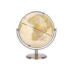 Exerz 8quot; 20cm World Globe Antique Globe Metal Arc and Base Bronzed Color ... $51.99