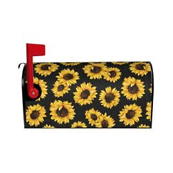 BAIFUMEN Sunflower Mailbox Covers Magnetic Seashells Ocean Sea Mailbox Cover ... $30.21