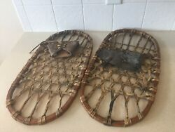 WW II Fahlin Vintage Snowshoes Bear Paw World War 2 Shoes US 1942 $350.00