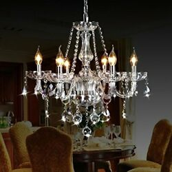 Classic Vintage Crystal Candle Chandeliers Lighting 6 Lights Pendant 6 Light $159.48
