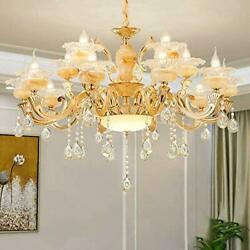 YUYUE Crystal ChandeliersVintage Pendant 12 Lights Modern Contemporary Ceiling $210.05