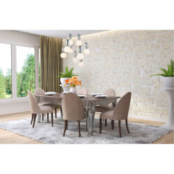 CHANDELIER CHROME AND GLASS MODERN PENDANT DINING ROOM KITCHEN ISLAND 9 LIGHTS $400.07