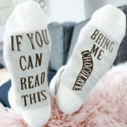 Men Women Novelty Socks quot;If You Can Read This Bring Mequot; Funny Print Soft Socks $7.69