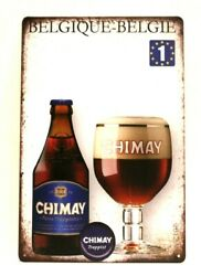New Chimay Belgian Beer Tin Sign Bar Man Cave Vintage Ad Rustic Style Belgique $8.97