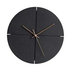 MODIRNATION Wooden Modern Wall Clock Minimalistic and Stylish Walnut Hands Si $77.25