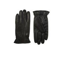 NEW Isotoner Men's Faux Leather Touchscreen Gloves Black size M $19.99