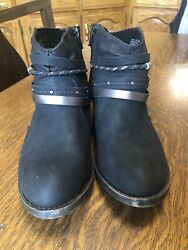SO Kohls Celery Black Women#x27;s Ankle BOOTS Black 73277 #3