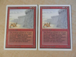 MTG 2x Wall of Stone Unlimited English Light Play Excellent Condition $9.99