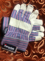 3m Thinsulate Work Safety Gloves Leather Palm New with Tag $8.00