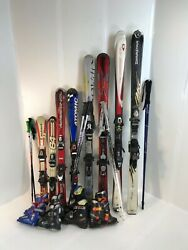 Adult Used Ski Package Skis Bindings Boots amp; NEW Ski Poles. Fit to order. $248.88