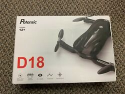 Potensic D18 Foldable Drone With 1080P Camera WiFi FPV Quadcopter for Beginners $34.99