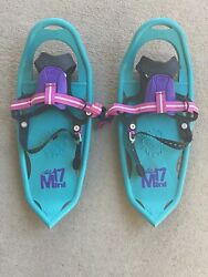 Atlas Mini Youth Kids Snowshoes 17 Mini 17 Purple Teal Excellent $39.00